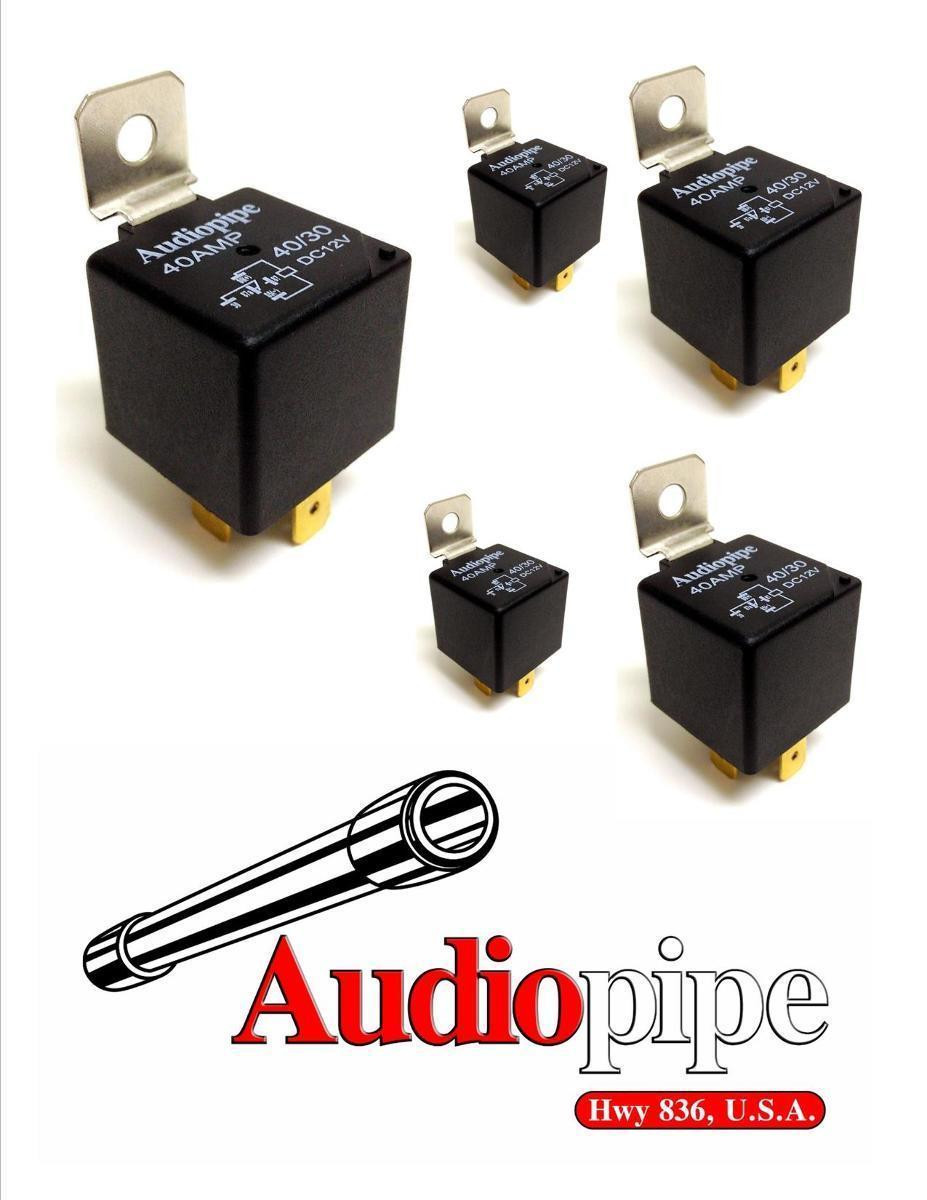 5 Pack Audiopipe 12v 5 Pin Spdt 30  40 Amp Relay Sealed