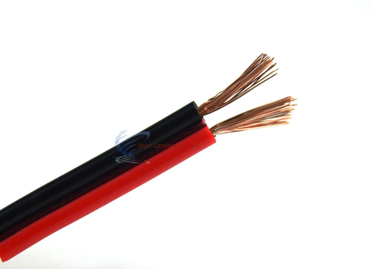 Audiopipe 1000\' Feet 18 GA Gauge Red Black 2 Conductor Speaker Wire ...