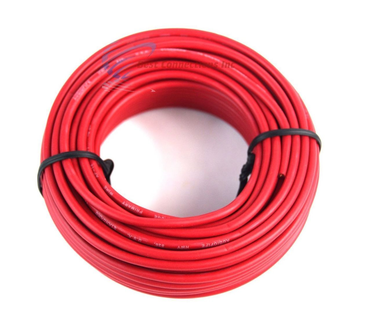 14 GAUGE WIRE RED & BLACK POWER GROUND 50 FT EACH PRIMARY STRANDED ...