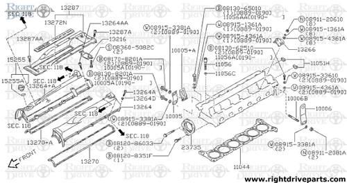 13213 - guide, valve exhaust - BNR32 Nissan Skyline GT-R