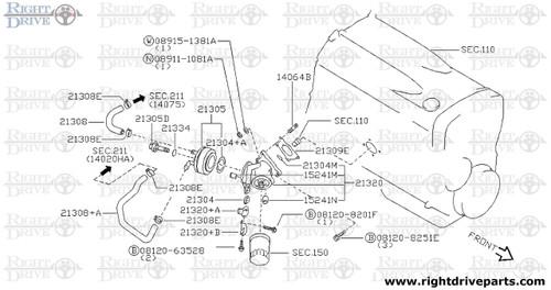 14064B - stud - BNR32 Nissan Skyline GT-R