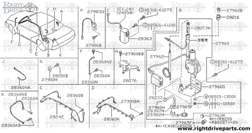 28037 bracket radio bnr32 nissan skyline gt r rh rightdriveparts com nissan skyline r33 wiring diagram engine