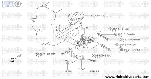 11942B - bolt - BNR32 Nissan Skyline GT-R