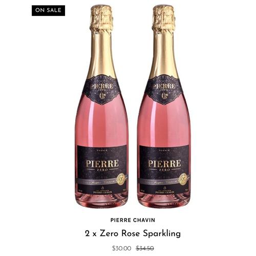 2 x Pierre Chavin Zero Rose Sparkling