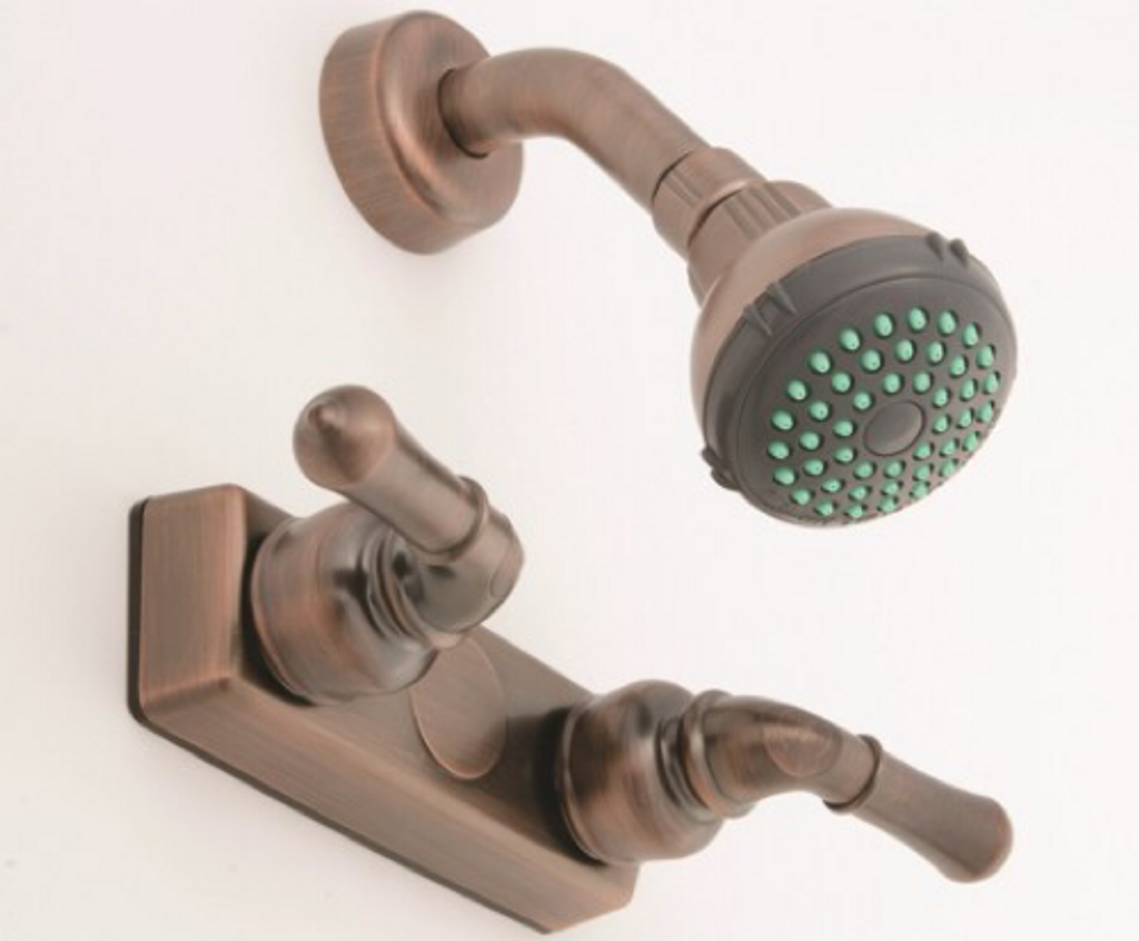 """Empire 4"""" Oil Rubbed Bronze Shower Faucet with Lever Handles"""