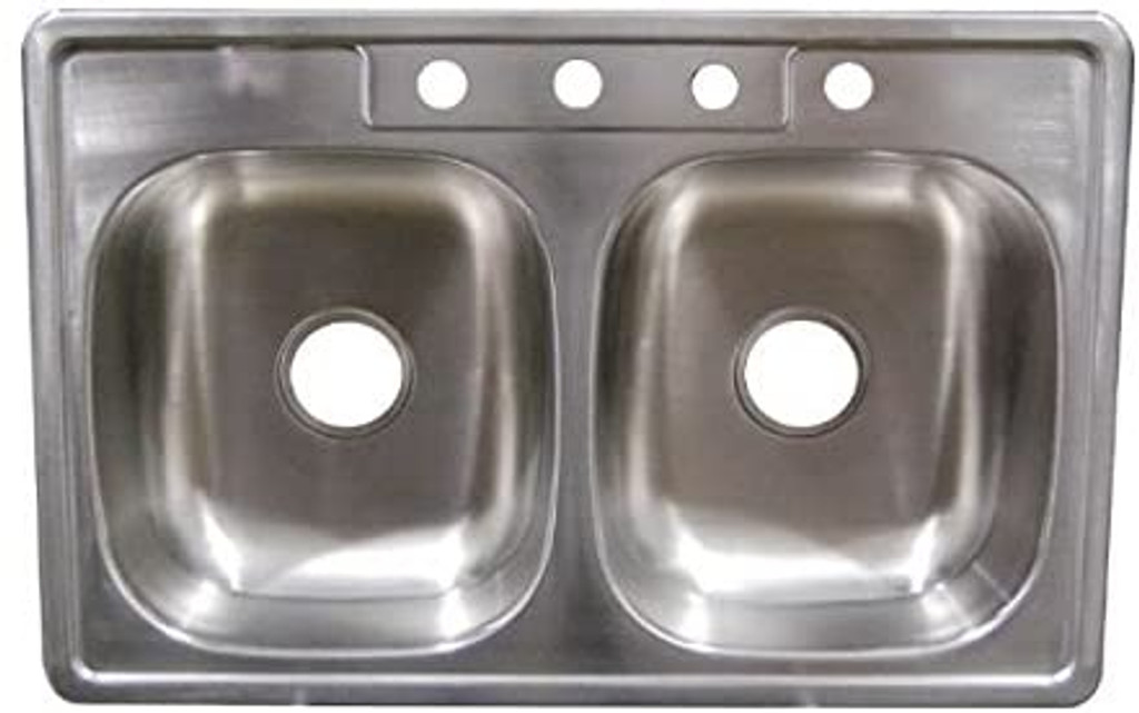 "33"" x 19"" x 6"" Deep Stainless Steel Sink"