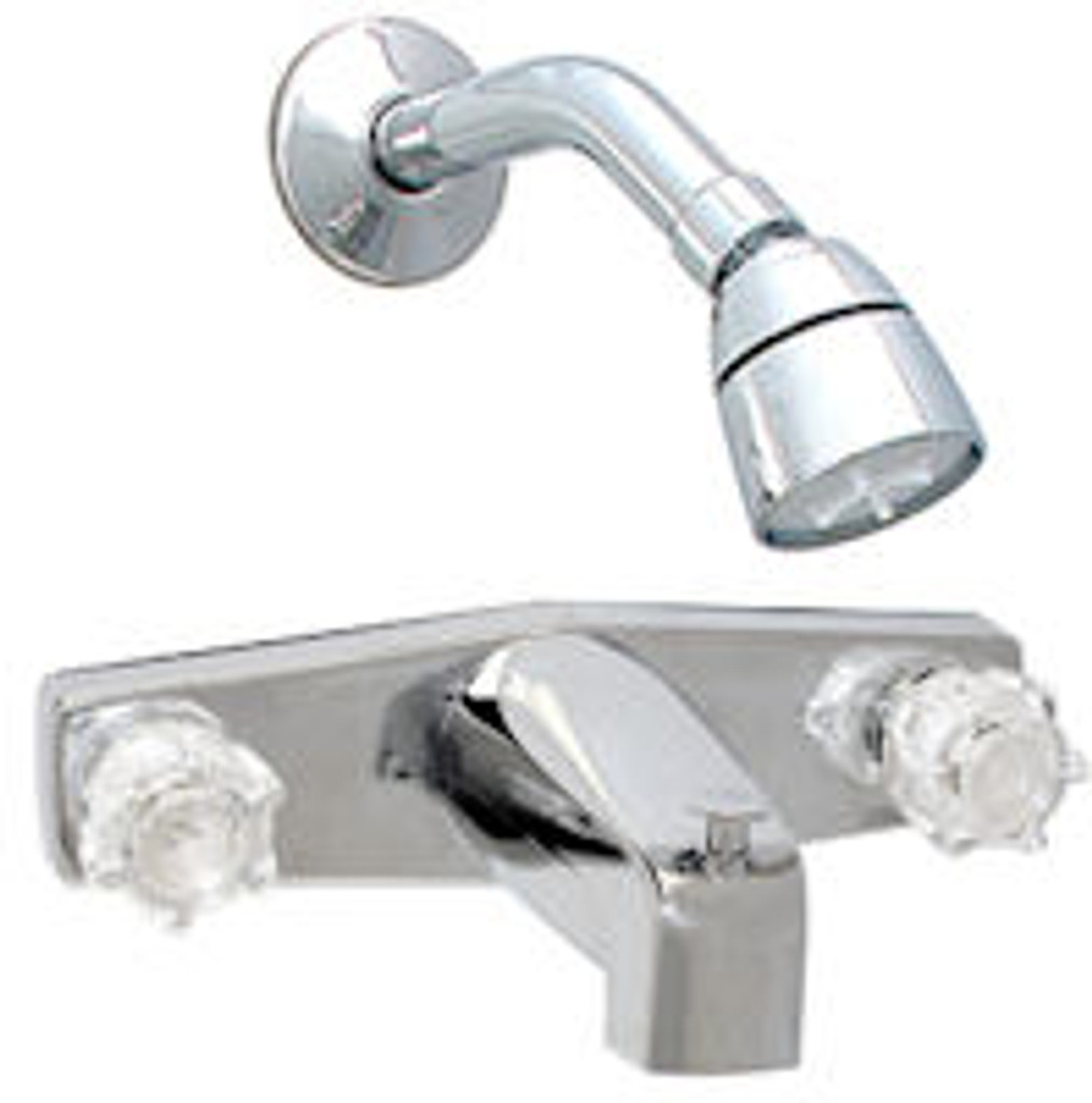 """8"""" Chrome Tub & Shower Faucet with Brass Underbody"""