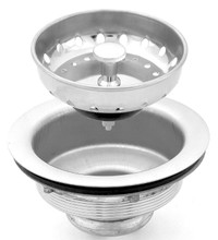 Chrome Sink Stainer & Basket with Stainless Steel Body (2 Pack)
