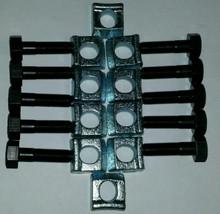 Mobile Home Axle Wheel Bolt (Fine Thread) w/ Rim Clamps 10 pack