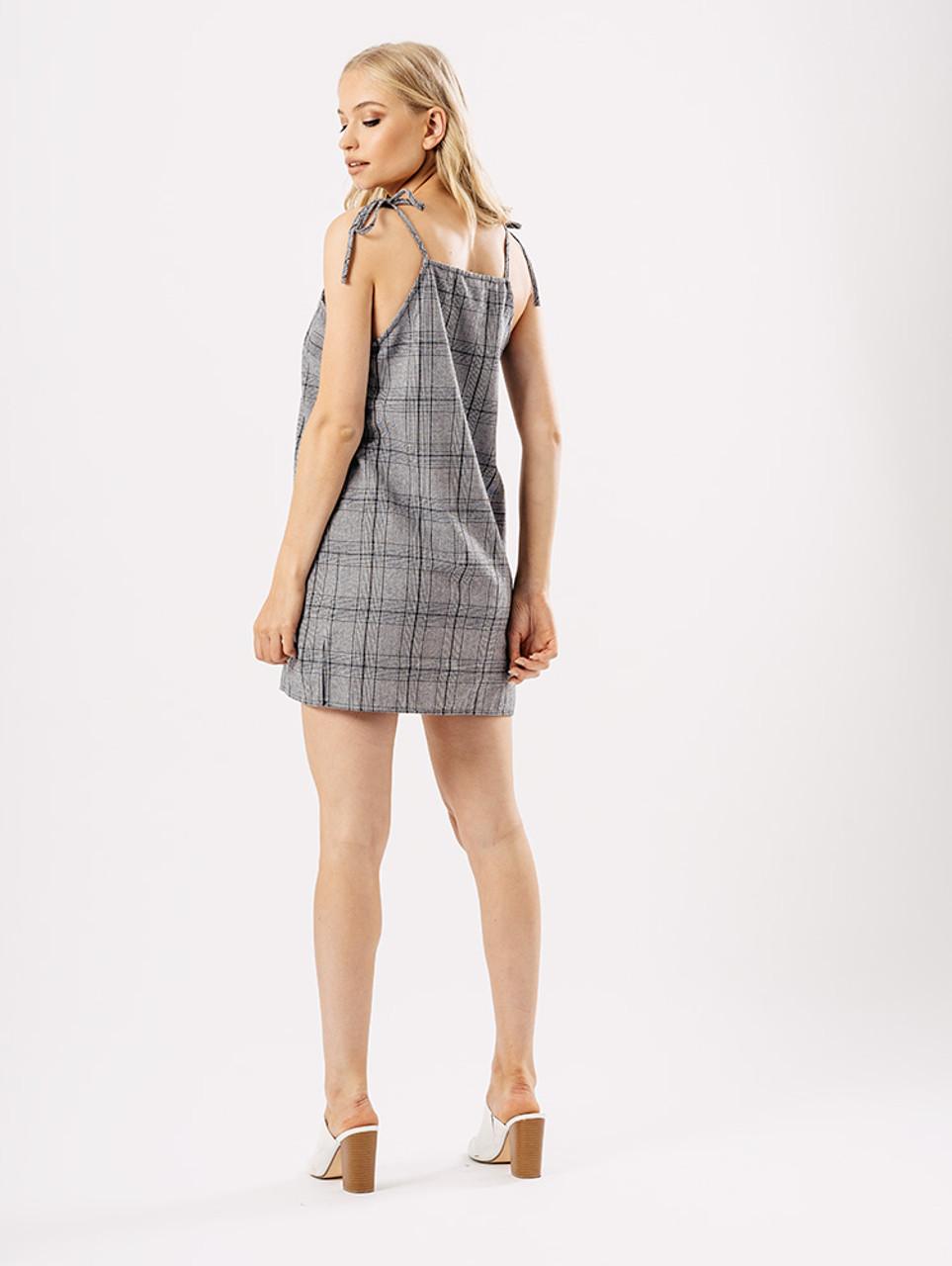 Gingham Check Print Summer Mini Dress