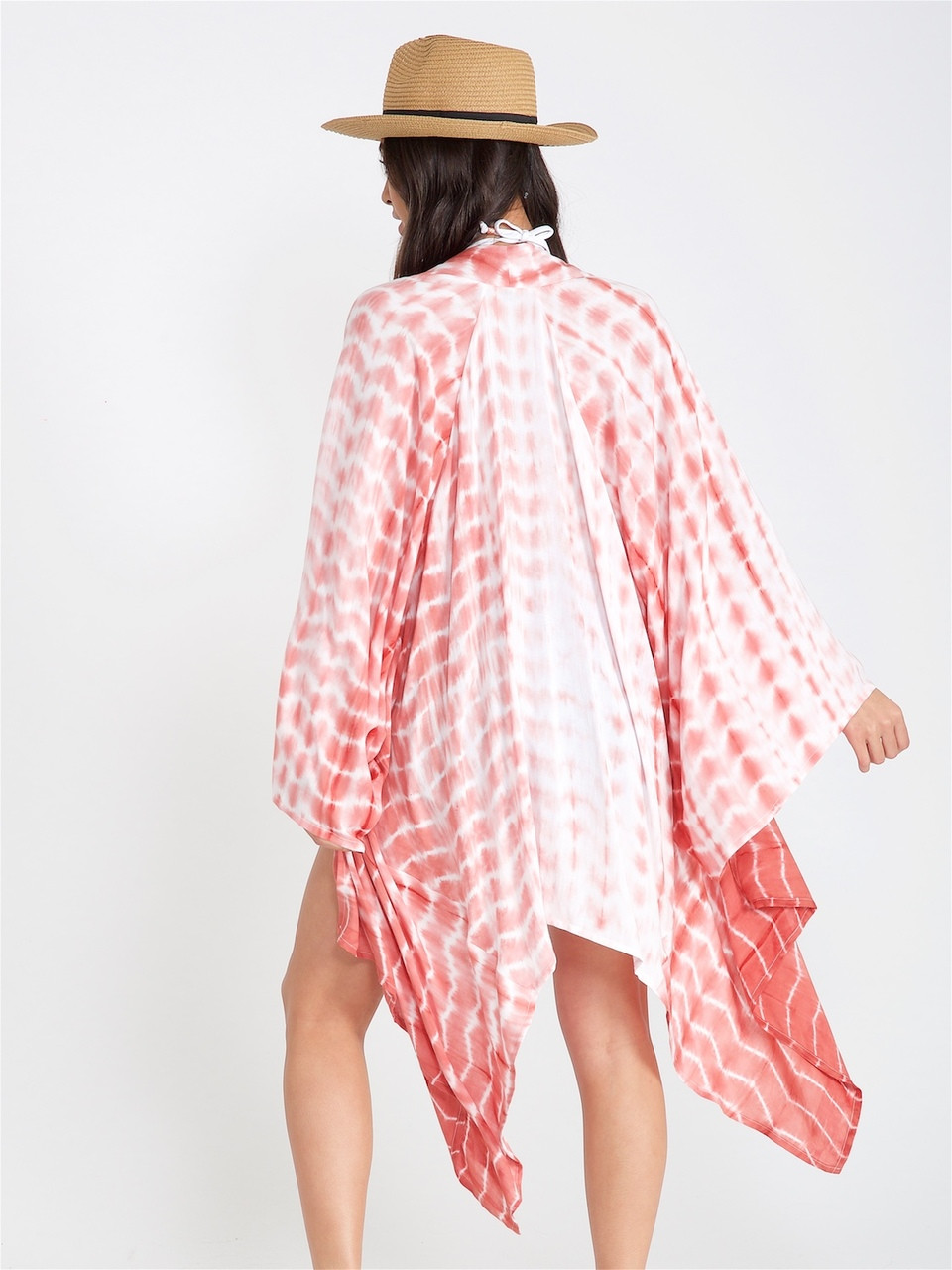 Pink Tie Dye Handkerchief Kimono