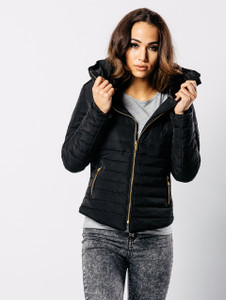 Black Padded Puffer Coat