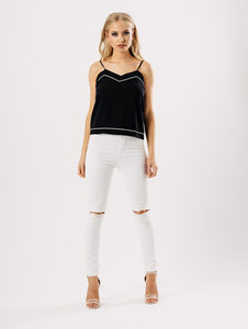 Strappy Piping Detail Cami Top