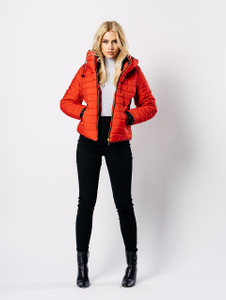 Red Padded Puffer Coat