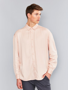 Pink Oversized Long Sleeve Shirt