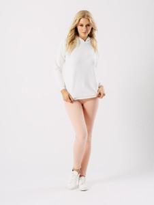 White Basic Long Sleeve Hoodie