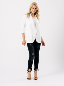 White Luxe Blazer