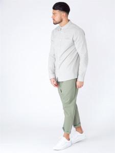 Grey Long Sleeve Pocket Shirt