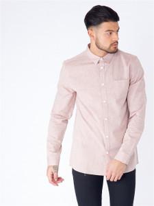 Pink Long Sleeve Pocket Shirt