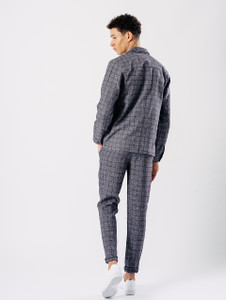 Grid Check Woven Chino Trousers