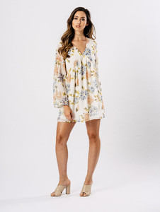 Multi Floral Print Floaty Dress