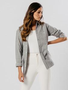 Long Sleeve Pocket Shirt in Grey