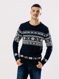 Navy Full sleeve Fair Isle Knit