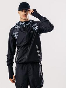 Black Printed Activewear Jacket