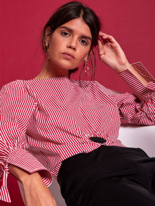 Margot Stripe O Ring Blouse (RRP £28.00)