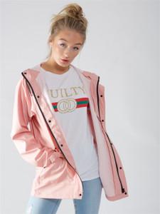 Pink Waterproof Hooded Rain Jacket