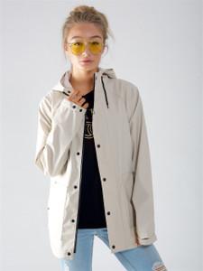 Stone Waterproof Hooded Rain Jacket