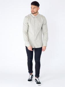 Khaki Long Sleeve Pocket Shirt