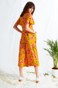 Gardenia Floral Tea Jumpsuit