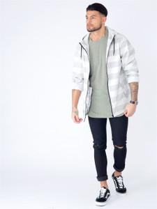 Grey Rubber Feel Festival Rain Mac Jacket