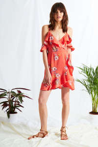 Gabrielle Floral Cold Shoulder Dress
