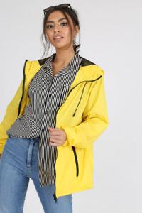 Yellow Waterproof Hooded Rain Jacket