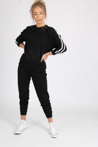Black Sports Luxe Stripe Trousers