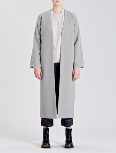 Grey Dusk Edge to Edge Maxi Overcoat