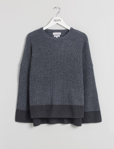 Grey Meridian Knit With Side Splits