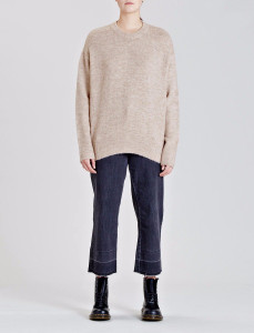 Oatmeal Panelled Knit