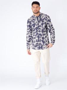 Navy Printed Long Sleeve Shirt