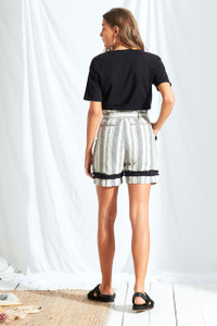 Sienna Stripe High Waist Shorts