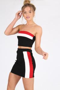 Colour Block Sports Stripe Co Ord Set