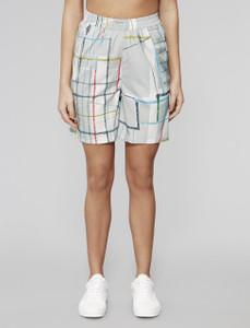 Grey Spectrum Print Bermuda Shorts