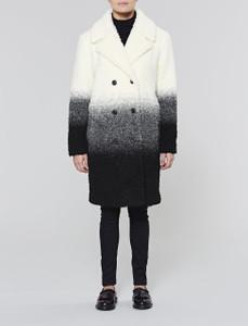 Ecru Ombre Teddy Coat