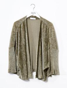 Olive Crinkle Velvet Kimono