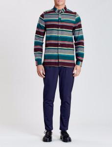 Arcot Multi Stripe Straight Hem Shirt