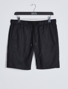 Black Drawcord Waist Short