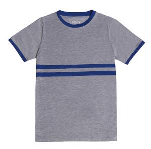 Grey Stripe Contrast T