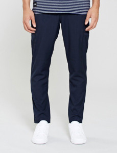 Navy Haycroft Chino Pant With Drawcord Waist And Side Pockets